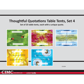 Thoughtful Quotations Table Tents (set 4)