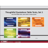 Thoughtful Quotations Table Tents (set 1)