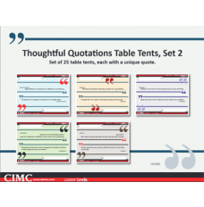 Thoughtful Quotations Table Tents (set 2)