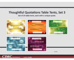 Thoughtful Quotations Table Tents (set 3)